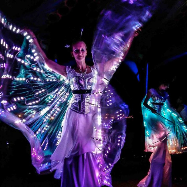 LED Stilt Walkers Street Performer Leicestershire