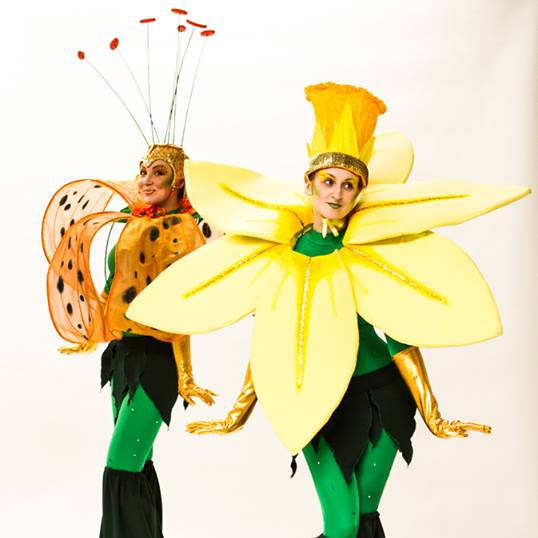 Flower Stilt Walkers Street Performer Leicestershire