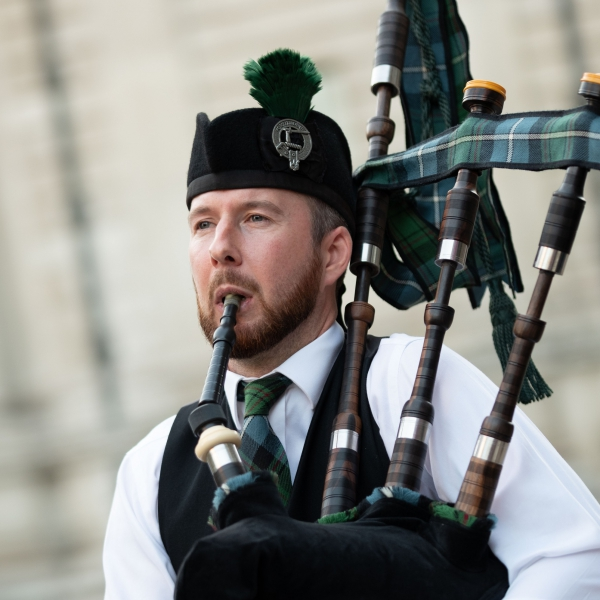 Britains South East Bagpiper  London