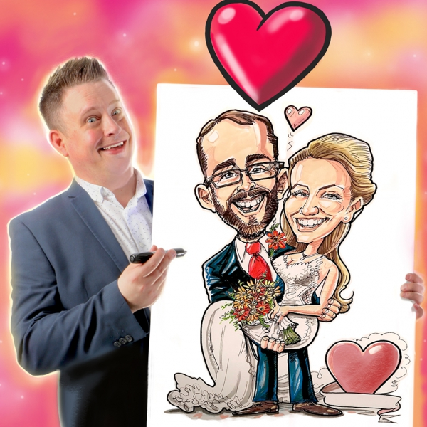 Caricature Party with Rich Caricaturist Staffordshire