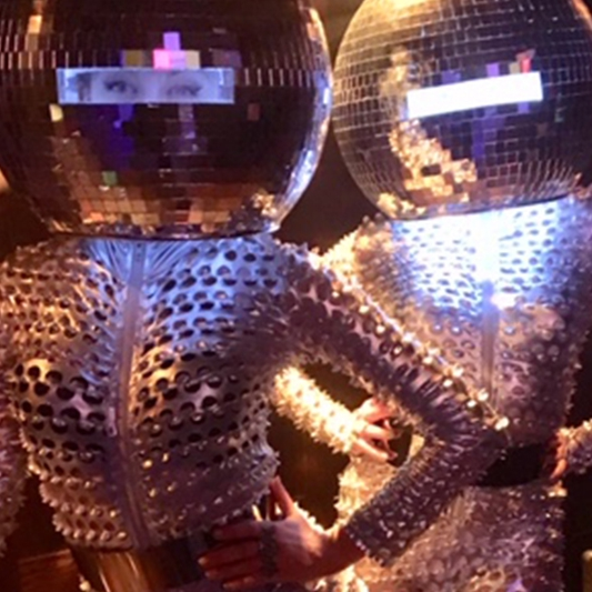 Disco Ball Heads Mix and Mingle Entertainer London