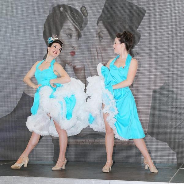 Twin Vintage Dancers Dancer London