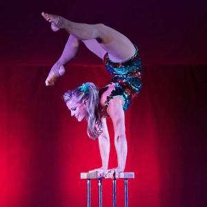 Handbalancing Zoe Circus Performer London