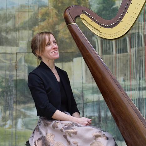 Harp And Heart Harpist Dorset