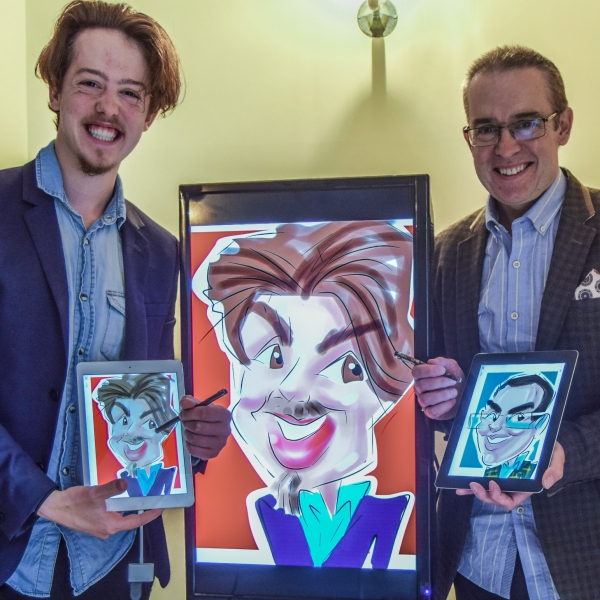 Face To Face Caricaturist Duo Leicestershire