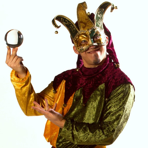 Jugglers In Jester Costume Circus Performer Leicestershire
