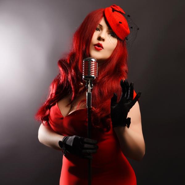 Miss Scarlet La Rouge Vintage Gatsby Singer Derbyshire