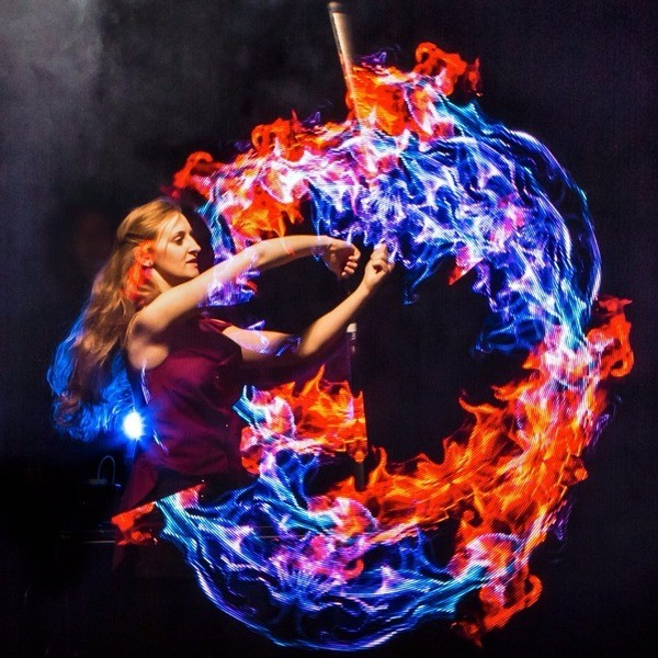 LED Glow Show Circus Performer Leicestershire