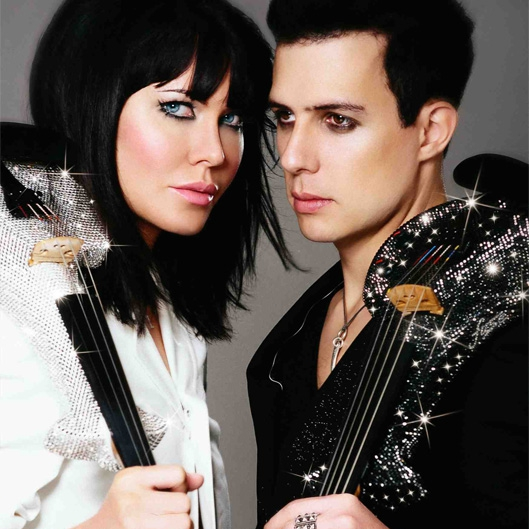 The Swarovski Violinists Electric Violin Duo London