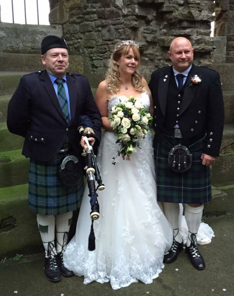 Traditional Highland Bagpiper Piper Review Wedding North Yorkshire