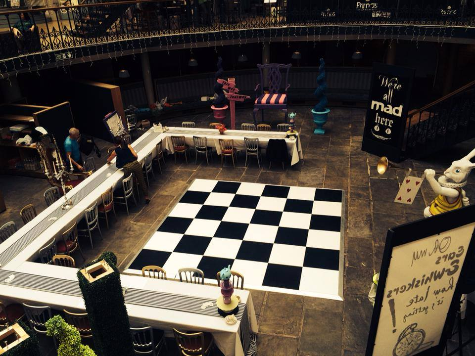 Promo Black and White Dance Floor Dance Floor Hire West Yorkshire