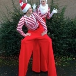 Promo Christmas Stilt Walkers Street Performer Leicestershire