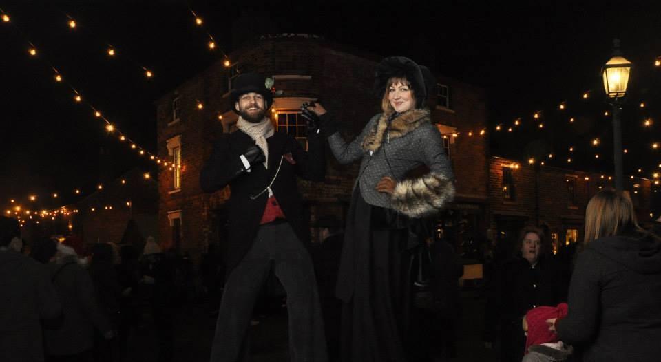 Promo Victorian Stilt Walkers Street Performer Leicestershire