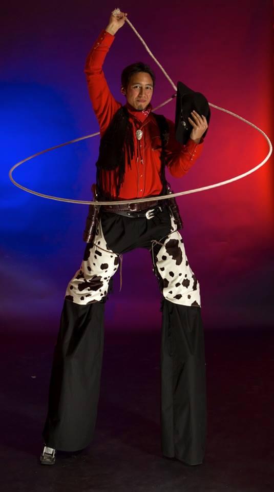 Promo Cowboy Stilt Walkers Street Performer Leicestershire