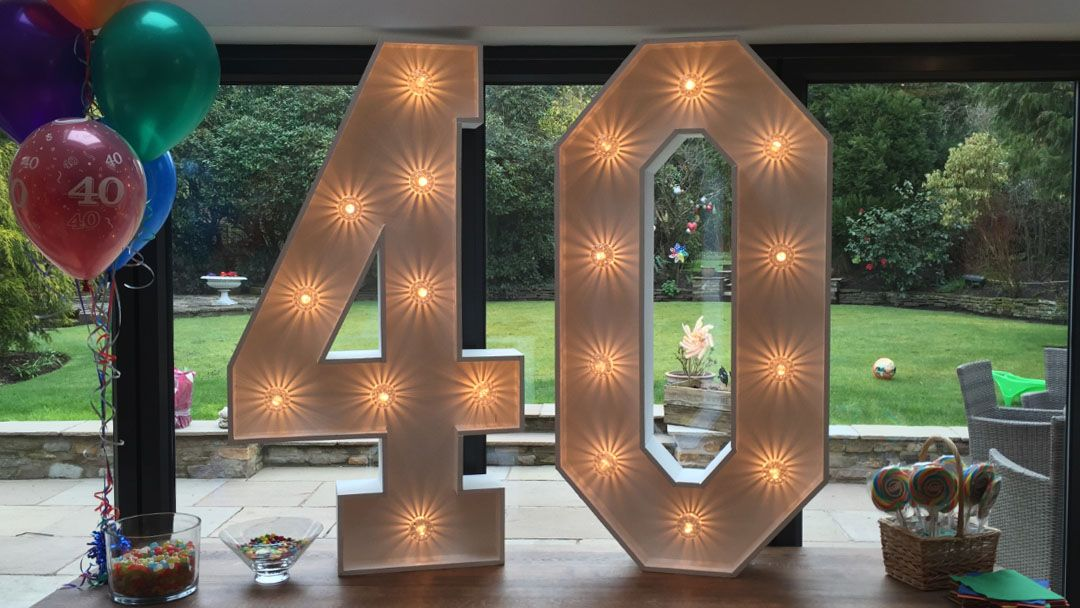 Promo Light Up Numbers Light Up Numbers Greater Manchester