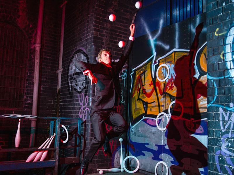 Promo Comedy Juggler Street Performer Bristol