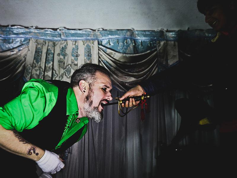 Promo Mr Bones Sideshow Circus Performer Hertfordshire