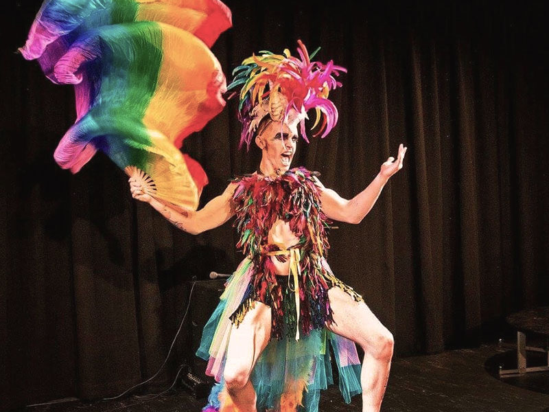 Promo Tropical Cabaret Show Circus Performer East Sussex