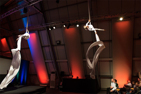 Promo Aerial Silk Displays Circus Performer London