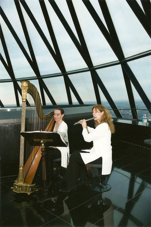 Promo Harmony Duo Harp and Flute Duo London