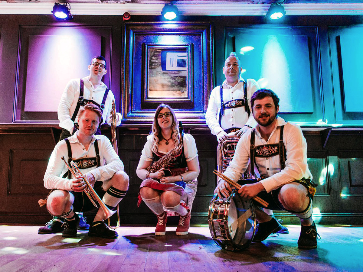 Promo Bier Stein Oompah Band Bavarian Style Oompah Band Kent