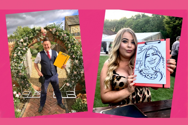 Promo Caricature Party with Rich Caricaturist Staffordshire