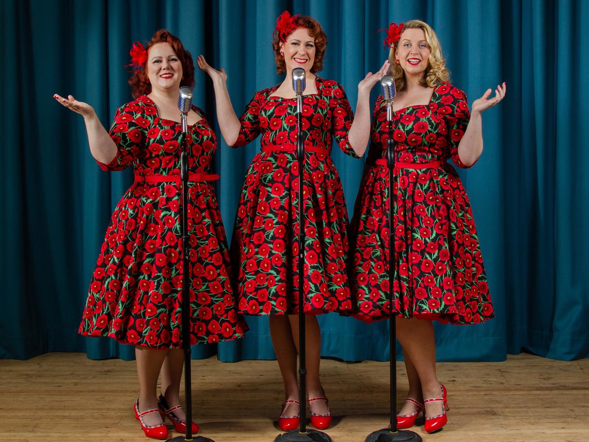 Promo Champagne Belles Vocal Harmony Trio Berkshire