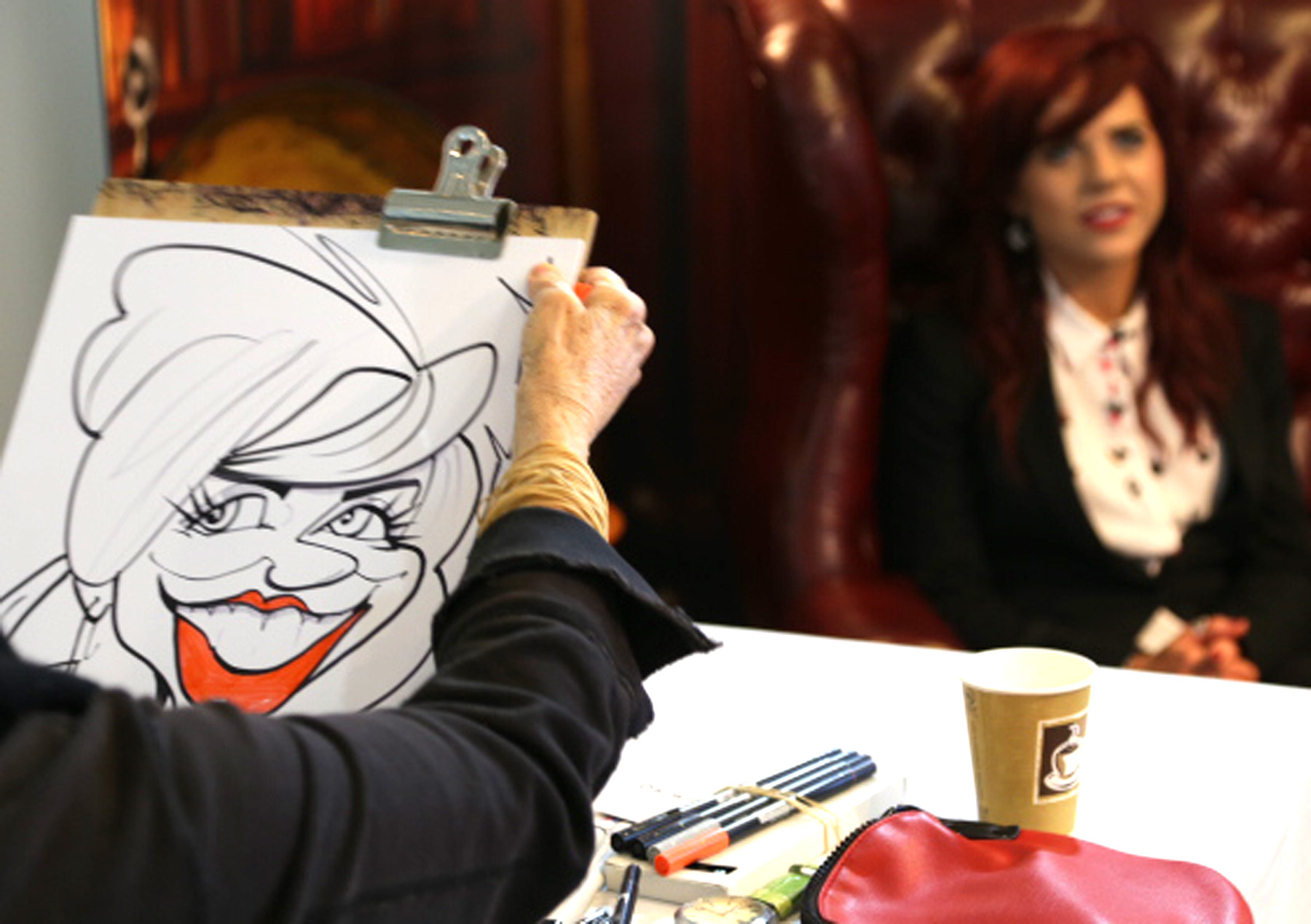 Promo Soozi Caricaturist Caricaturist West Sussex