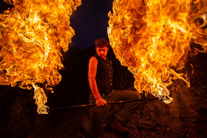 Promo Damazo Fire Spectacular Fire Performer Somerset