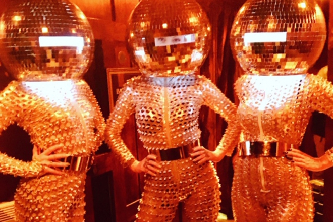 Promo Disco Ball Heads Mix and Mingle Entertainer London