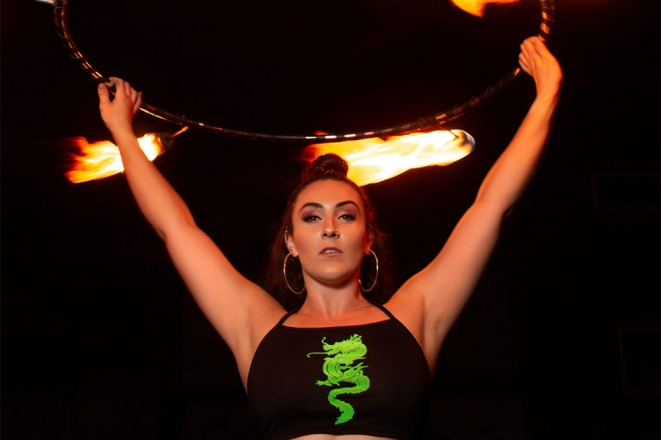Promo Fire Performer Jessica Fire Performer West Midlands