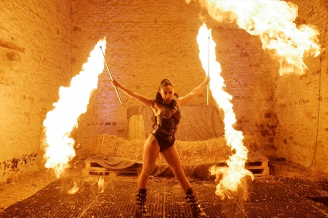 Promo Fire Performer Katriana Fire Performer. Bedfordshire