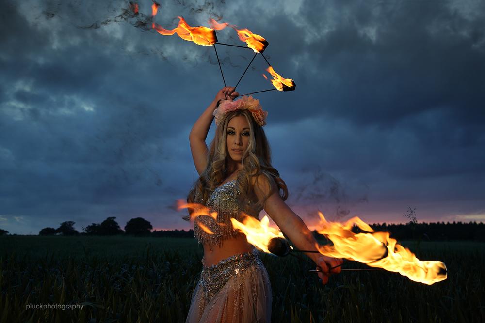 Promo Fire Performer Katriana Fire Performer. Leighton Buzzard, Bedfordshire