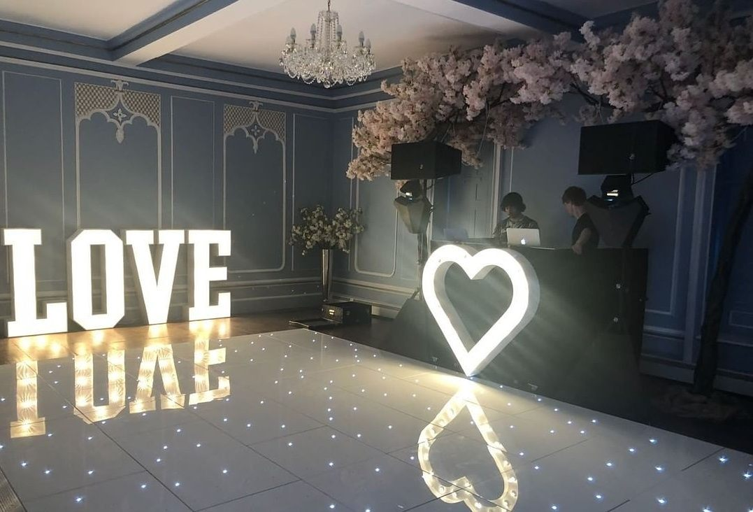 Promo White LED Dance Floor Dance Floor Hire Essex