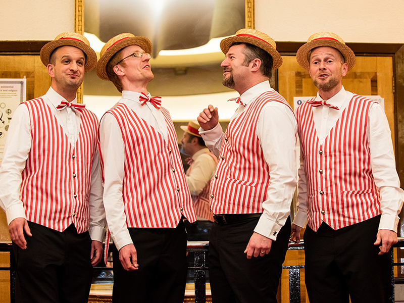 Promo Harmony Barbershop Quartet Acapella group Hertfordshire