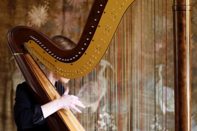 Promo Harp And Heart Harpist Dorset