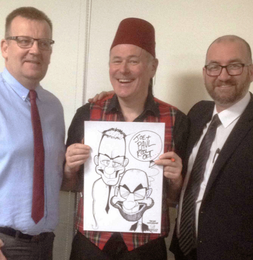 Promo Neil Thomson Caricaturist Glasgow