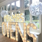 Promo VE Light up Letters Light Up Letters Berkshire
