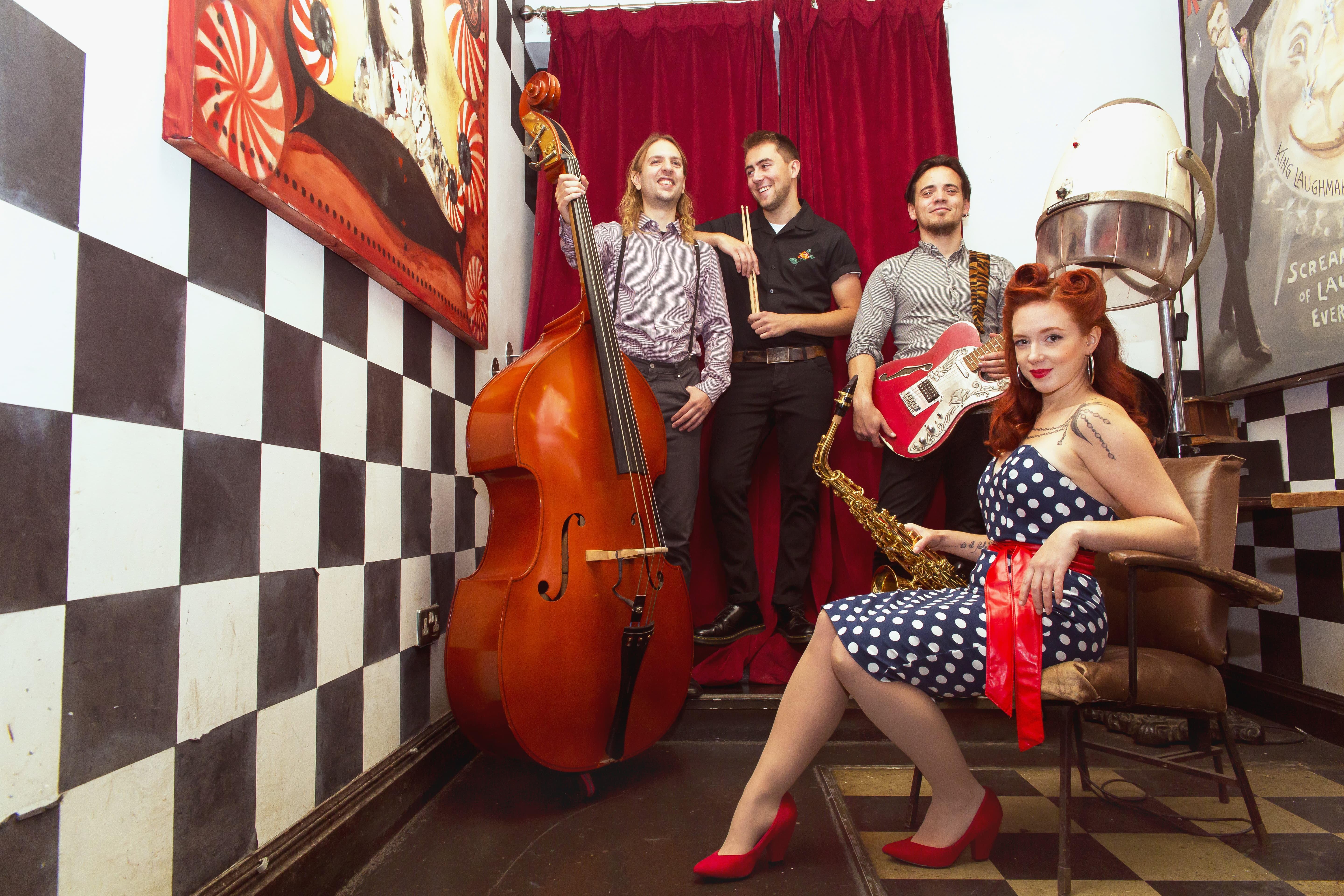 Promo Roxy and the Rockabillies Rock n Roll Swing Band East Sussex