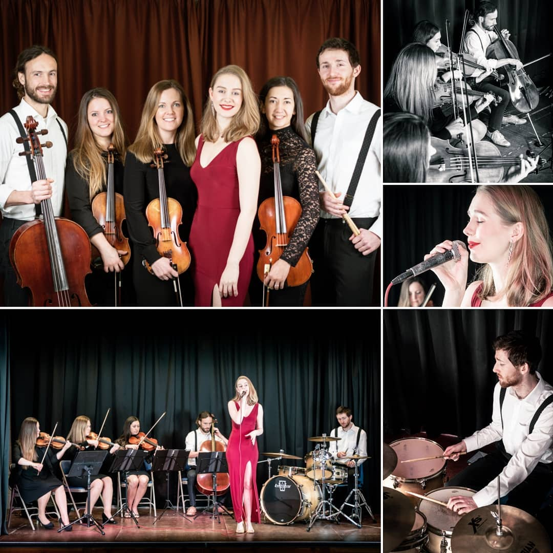 Promo Ella and the Strings Unique String Quartet Band With Singer and Drummer Norfolk
