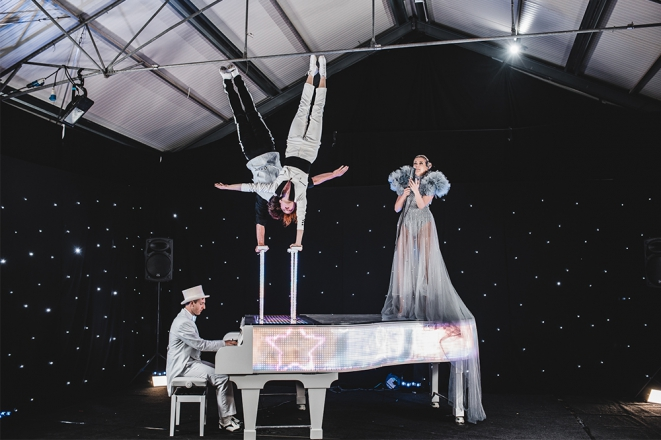 Promo LED Piano Circus Show Circus Show With Live Musicians Somerset
