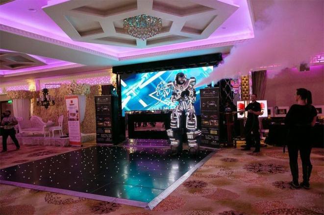 Promo LED Robot Costume Character Kent