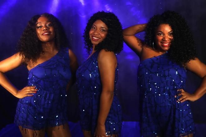 Promo Motown Glamour Motown Vocal Trio Surrey