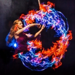 Promo LED Glow Show Circus Performer Leicestershire