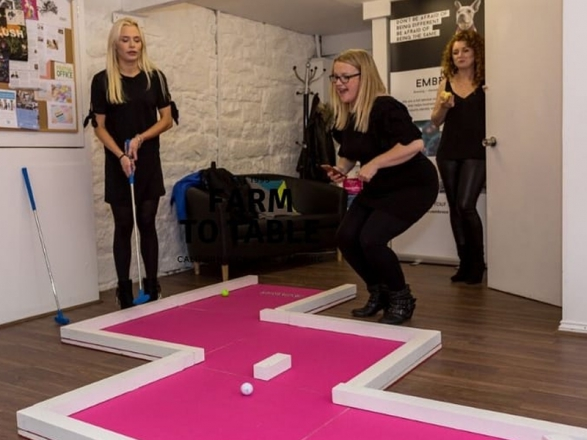 Promo Portable Mini Golf Giant and Outdoor Games Cheshire