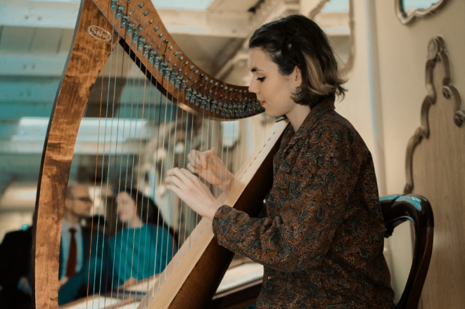 Promo Scarlett Harp Harpist Bristol