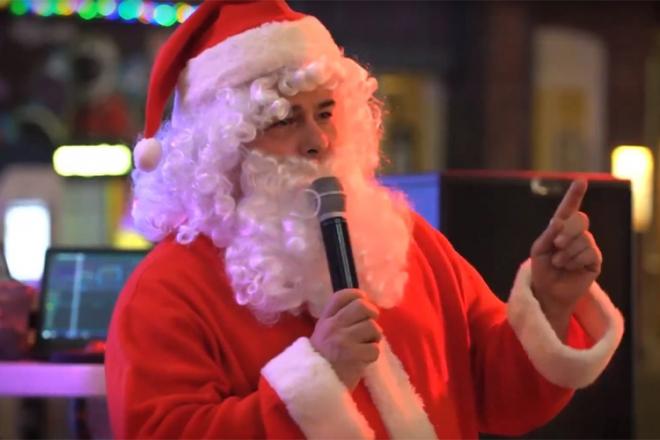 Promo Singing Santa Christmas Entertainer Lancashire
