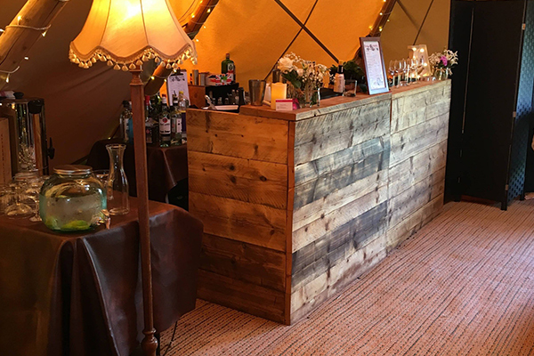 Promo The Rustic Wooden Bar  Derbyshire