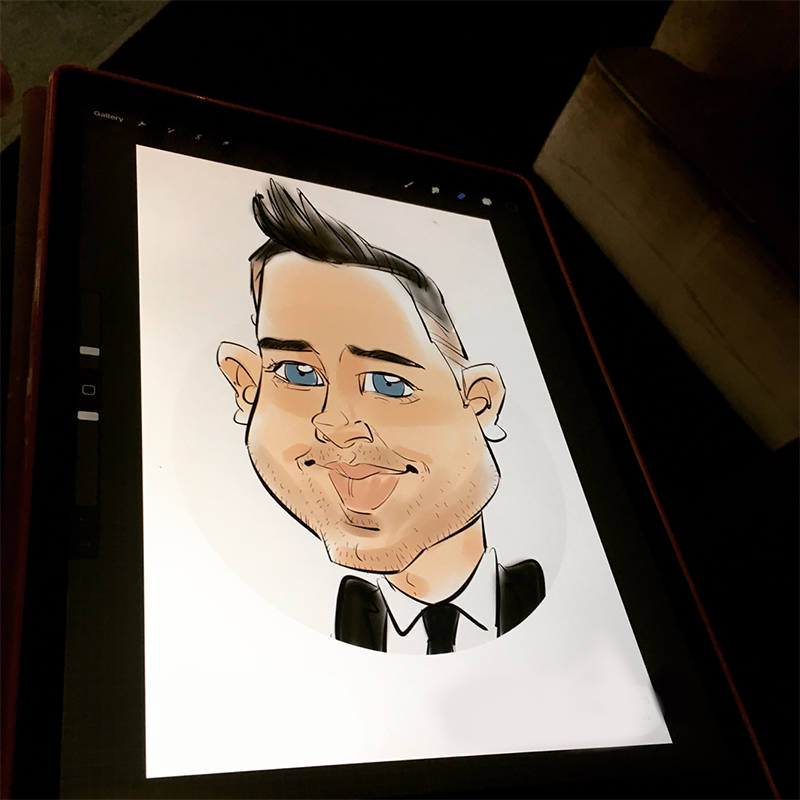 Promo Michael The Artist iPad Caricatures Digital Caricaturist Bedfordshire