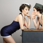 Promo Vintage Wartime Twins 1940's Vintage Wartime Dancers London